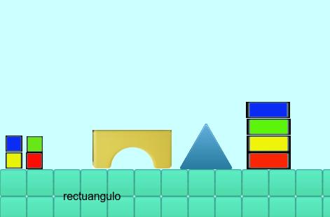 Construye con figuras geométricas.   Juego Educación infantil