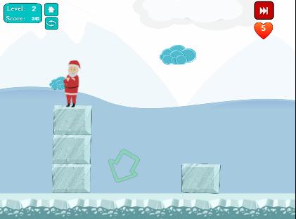 Juego en la que tienes que salvar a Santa claus (Papa Noel). Aprende jugando, Es un juego para que los niños piensen, y de camino aprendan conceptos, y formas geométricas.Educación infantil.